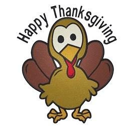 Turkey Happy Thanksgiving embroidery design