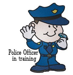 Cartoon Police Officer embroidery design