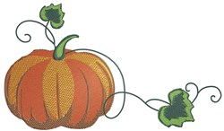 Pumpkin Corner embroidery design