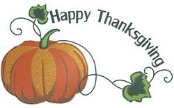 Pumpkin Corner Happy Thanksgiving embroidery design