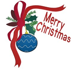 Merry Christmas Ornament embroidery design