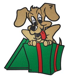 Doggy Gift embroidery design