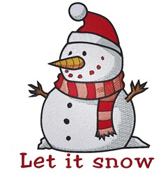 Snowman Saying embroidery design