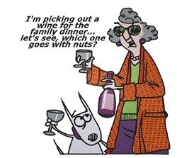 Maxine Picking Out Wine embroidery design