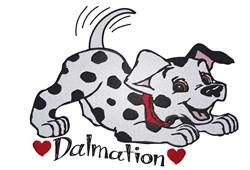 Dalmatian Puppy Love embroidery design
