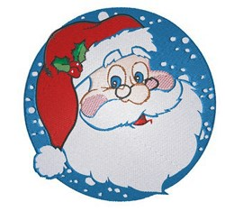 Santa Circle embroidery design