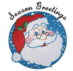 Santa Circle Season Greetings embroidery design