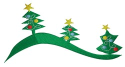 Christmas Tree Border embroidery design
