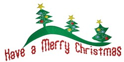 Merry Christmas Tree Border embroidery design