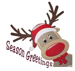 Season Greetings Rudolph embroidery design