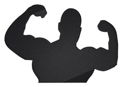 Muscle Man Silhouette embroidery design