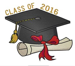 Graduation Class Of 2016 embroidery design