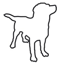 Dog Outline embroidery design