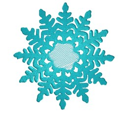 Blue Winter Snowflake embroidery design