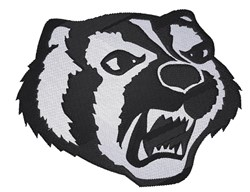 Badger Mascot embroidery design