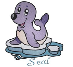 Cute Cartoon Seal embroidery design