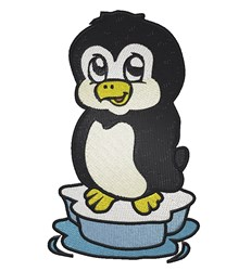 Cartoon Penguin embroidery design
