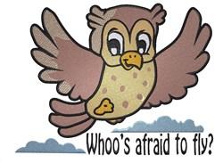 Cute Cartoon Owl embroidery design