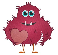 Valentine Monster embroidery design