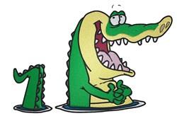 Cartoon Alligator embroidery design