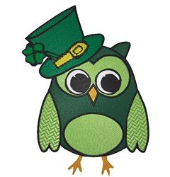 St. Patricks Owl embroidery design