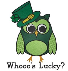 Whooos Lucky embroidery design
