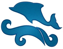 Dolphin Silhouette embroidery design