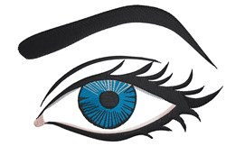 Blue Eye embroidery design