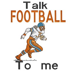 Talk Football embroidery design