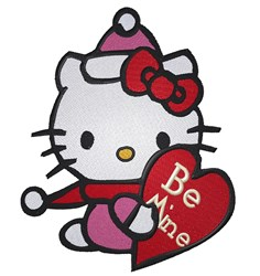 Be Mine Kitty embroidery design