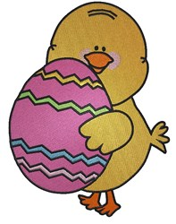Easter Egg Chick embroidery design