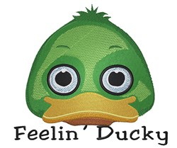 Feelin Ducky Head embroidery design