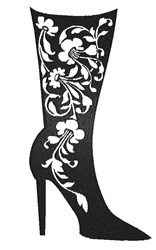 Fancy Boot embroidery design