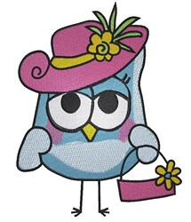 Fashion Owl embroidery design