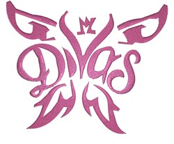 Diva Butterfly embroidery design