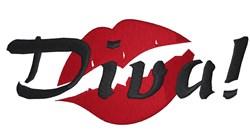 Diva Lips embroidery design