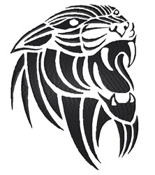 Tribal Tiger Silhouette embroidery design