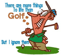 Golfer Cartoon Life embroidery design