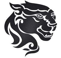 Tribal Panther Head embroidery design