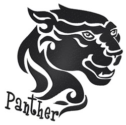 Tribal Panther embroidery design