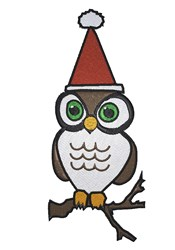 Santa owl embroidery design