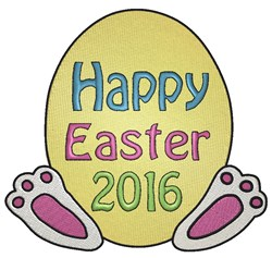 Happy Easter 2016 embroidery design