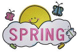 Spring Cloud embroidery design