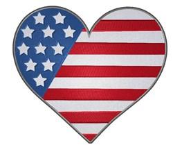 Patriotic Heart 1 embroidery design