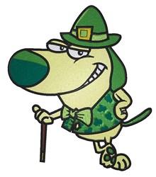 St. Patrick Dog embroidery design
