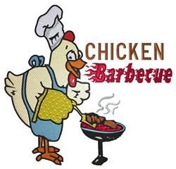 Chicken Barbecue embroidery design