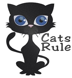 Cats Rule embroidery design