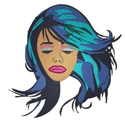 Blue Hair Diva embroidery design