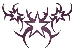 Tribal Stars embroidery design