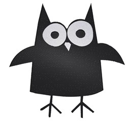 Black Owl embroidery design